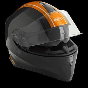 Kask motocyklowy ROCC 432 czarno-pomarańczowy - 2847784239
