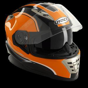 Kask motocyklowy ROCC 485 czarno-pomarańczowy metaliczny - 2847784476