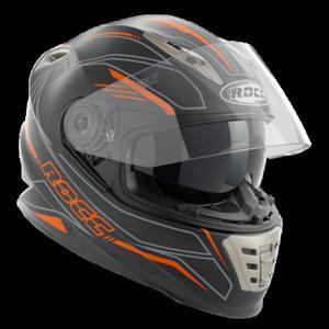 Kask motocyklowy ROCC 486 czarno-pomarańczowy mat L - 2847784810