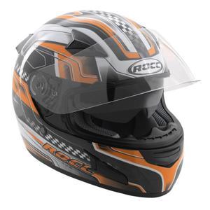 Kask motocyklowy ROCC 446 czarno-pomarańczowy - 2847784918