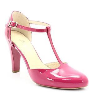 0e8422ae9ed696 KOTYL 5879 FUKSJA LAKIER - Buty damskie doskonałe do tańca, skóra naturalna  - Różowy -