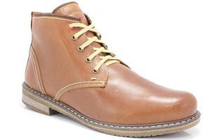 KENT 238 BRĄZ - Skórzane buty zimowe ocieplone naturalnym futrem - Brązowy - 2841662697