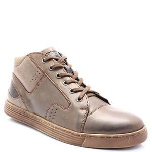 87d2a331 KENT 303 BRĄZOWE - Zimowe buty męskie, skóra - Brązowy - 2858635619