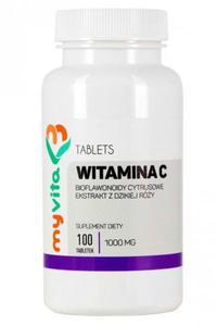Witamina C 1000 mg z Dziką Różą i Bioflawonoidami Cytrusowymi, MyVita, Suplement Diety - 2841655298