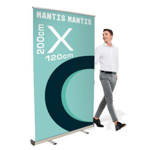 Rollup Mantis 120 x 200 cm stojak reklamowy rozwijany z opcją wydruku