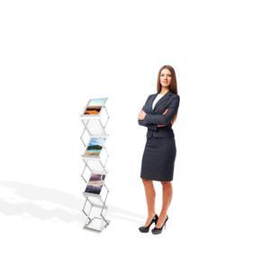 Stojak na ulotki 6 x A5 Akrylowy stojak informacyjny na ulotki sk - 2837291529