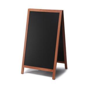 Drewniany potykacz kredowy NATURA 60 x 101 cm Jasnobr - 2860699084