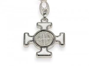 Brelok - Krzyż Benedyktyński (kolorystyka do wyboru) - 2844809078