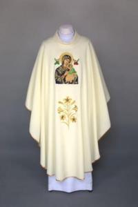 Ornat z wizerunkiem Matki Boskiej Nieustającej Pomocy z ręcznie malowanymi elementami - 2825546275