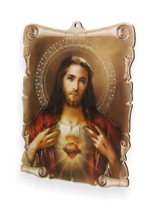 Obrazek pastelowy - Serce Jezusa - 2844809105
