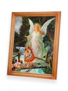 Obraz - Anioł Stróż - dzieci na mostku...