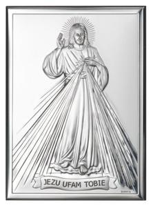 Obrazek srebrny - Jezu Ufam Tobie 13x9 - 2843241729