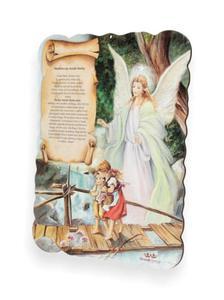 Obrazek pastelowy z modlitwą do Anioła Stróża - 2844809324