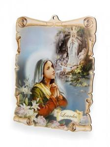 Obrazek pastelowy - Matka Boska z Lourdes - 2844809328