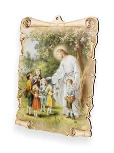 Obrazek pastelowy - Jezus z dzie - 2844809337