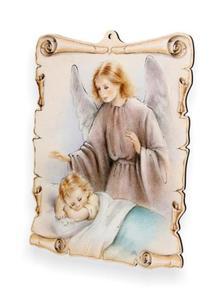 Obrazek pastelowy - Anioł Stróż - przy łóżeczku - 2844809338