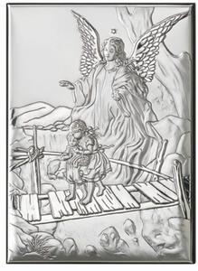 Obrazek srebrny - Anioł Stróż - dzieci na mostku 13x9 - 2843241734