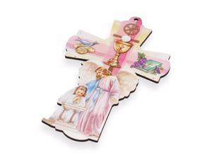 Stylowy Krzyż - Pamiątka I Komunii Św. - dla dziewczynki - 2844809392