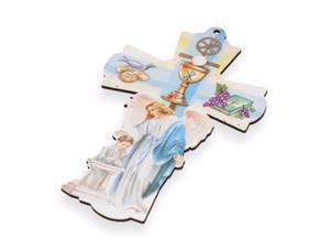 Stylowy Krzyż - Pamiątka I Komunii Św. - dla chłopca - 2844809393