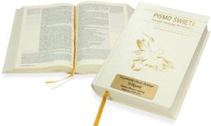 Pismo Święte ST i NT (biała oprawa) z Twoim grawerem! - 2825546560
