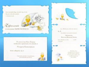 Zaproszenia na uroczystość I Komunii Świętej (5 sztuk) - 2844809467