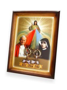 Obraz Jezu Ufam Tobie z relikwią- 47x37 - 2844809479
