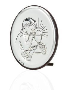 Obrazek srebrny - Komunia Święta - chłopczyk 9x7 - 2844809496
