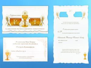 Zaproszenia na uroczystość I Komunii Świętej (5 sztuk) - 2844809531