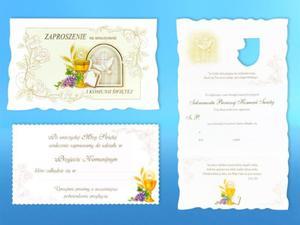 Zaproszenia na uroczystość I Komunii Świętej (5 sztuk) - 2844809532