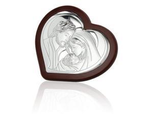 Obrazek srebrny - Święta Rodzina (serce) 13,5x12 - 2843446179