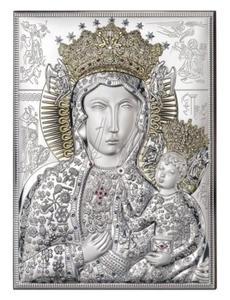Obrazek srebrny - Matka Boska Częstochowska 13x9 - 2843446188
