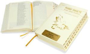 Pismo Święte ST i NT (biała oprawa, paginatory) z Twoim grawerem! - 2843446194