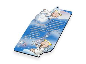 Obrazek pastelowy z modlitwą - niebieski - 2844809653