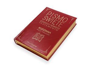 Biblia Rodzinna w skórze ekologicznej ze złoceniami i złoconymi brzegami - 2845860906