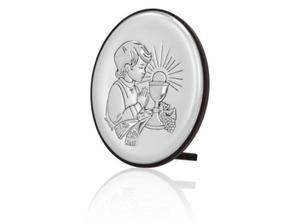 Obrazek srebrny - Komunia Święta - chłopczyk 18x13 - 2845860911