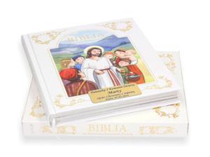 Biblia na I Komunię Świętą w etui z grawerowaną dedykacją - 2857893117
