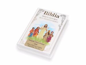 Biblia. Święta historia dla naszych dzieci z grawerem (biała) - 2858119950