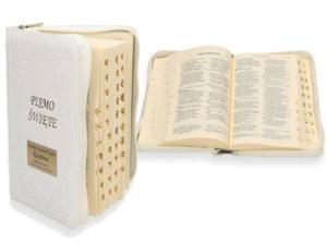 Pismo Święte, oprawa skórzana, paginatory + Twój grawer! - 2859099123