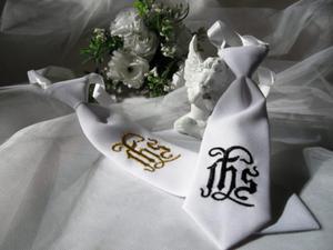 Krawat chłopięcy (haftowany) IHS - 2844809038