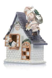 Figurka - świąteczny domek -...