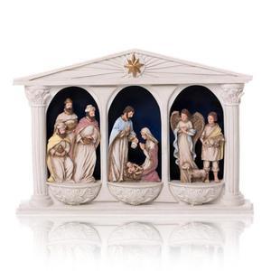 Szopka bożonarodzeniowa - świecąca - Bianco