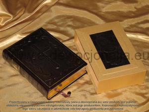 Pismo Święte w skórzanej oprawie - 2825546089