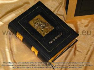 Pismo Święte w skórzanej oprawie - 2825546090