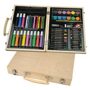 Duży, drewniany zestaw do malowania Maxi - 2823663748