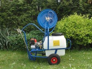 Opryskiwacz taczkowy 50 litrów - dwusuwowy CM46 - 2 KM \ AR DUE - wydajność 13l/min, ciśnienie maks. 20 bar - 2832736315