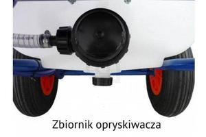 Opryskiwacz taczkowy spalinowy MM 120 litrów - dwusuwowy KM26 - 1,5 KM \ MM 308 - wydajość 8 l/min, ciśnienie maks. 30 bar - 2835559916