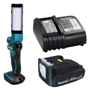 Zestaw akumulatorowe oświetlenie zastępcze DML801 MAKITA latarka 12x LED 18V/14.4V Li-Ion max moc świecenia 3godziny (lampa) w tym 1 akumulator 14,4 Zestaw DML801 MAKITA obracana latarka 12x LED 18V/14.4V Li-Ion (lampa) w tym 1 akumulator 14,4/1.3Ah BL1415 i ładowarka DC18RC - 2832330787