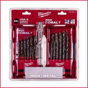 Wiertła do metalu zestaw komplet wierteł 25 sztuk MILWAUKEE HSS-G Cobalt DIN 338 wiertła kobaltowe (4932352471) kaseta metalowa Wiertła do metalu zestaw komplet wierteł 25 sztuk MILWAUKEE HSS-G Cobalt DIN 338 wiertła kobaltowe (4932352471) kaseta metalowa - 2832330814