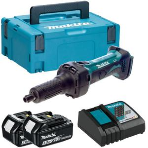 MAKITA DGD800RFJ szlifierka prosta tuleja 6mm akumulatorowa 18V Li-Ion 2x 3,0Ah (zmiana oznaczenia modelu BGD800RFJ na DGD 800 RFJ) - 2843949070