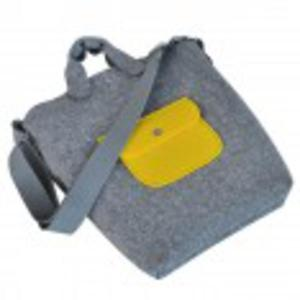 BiGGest BaG New - szara torebka z  - 2825534166